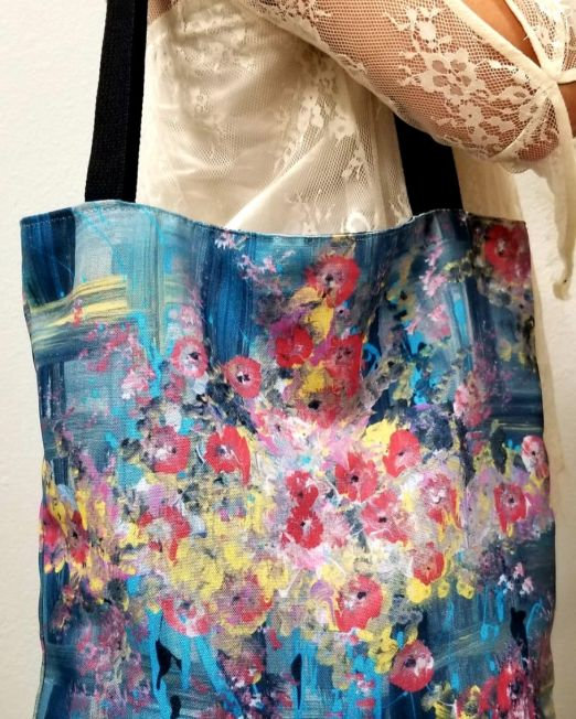 Tote by Artenitta (1). printed in canvas tote from Original painting